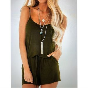 Other - Woman's army green romper size small